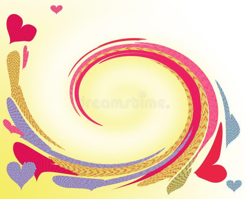 Danse de coeurs illustration stock