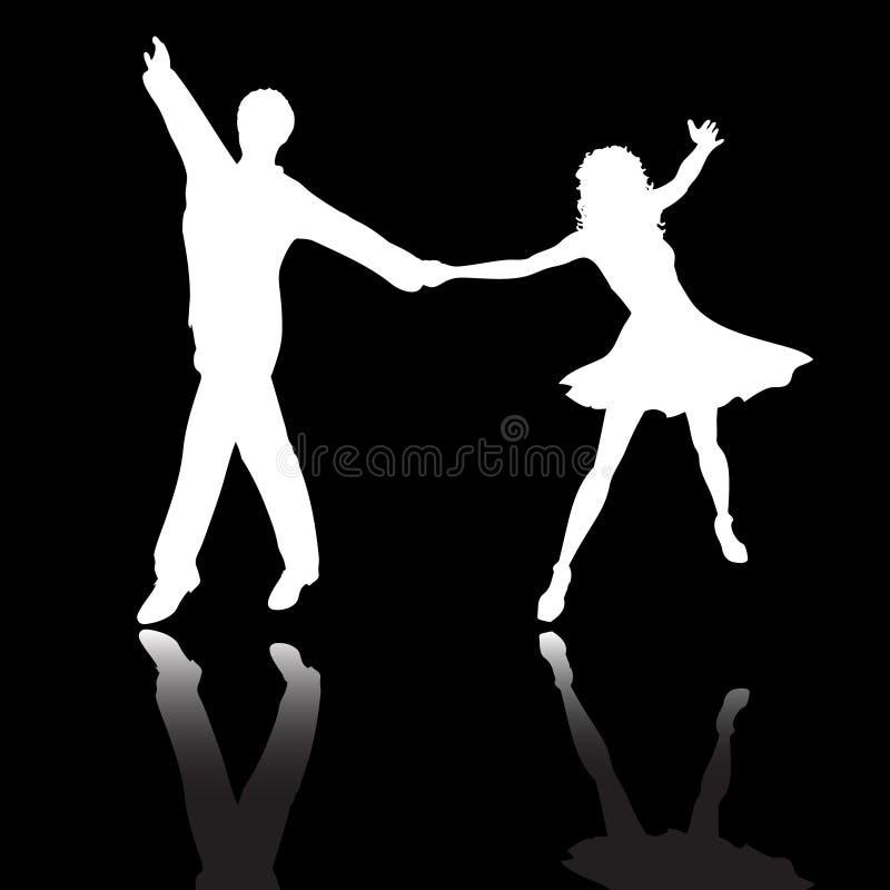 Danse de couples illustration de vecteur