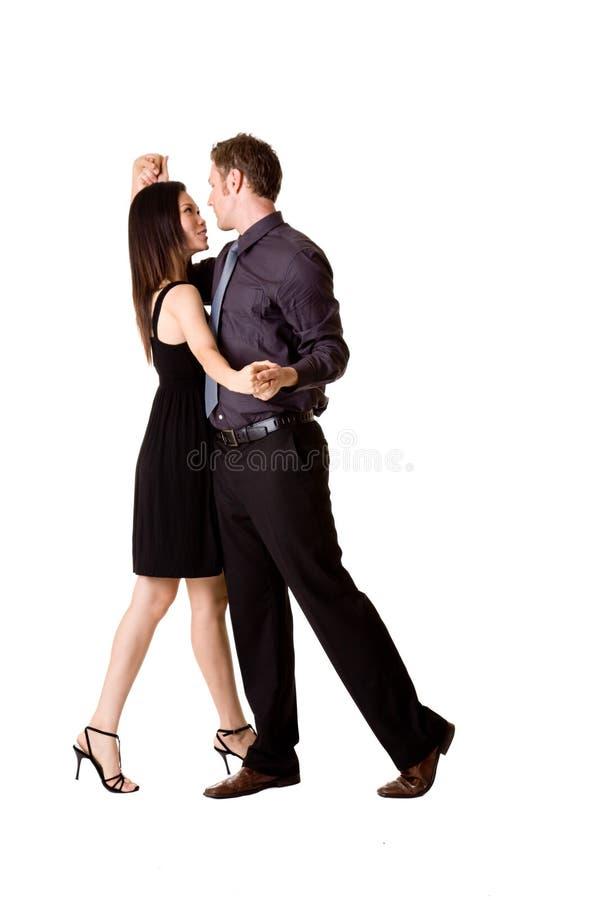 Danse de couples heureusement image stock