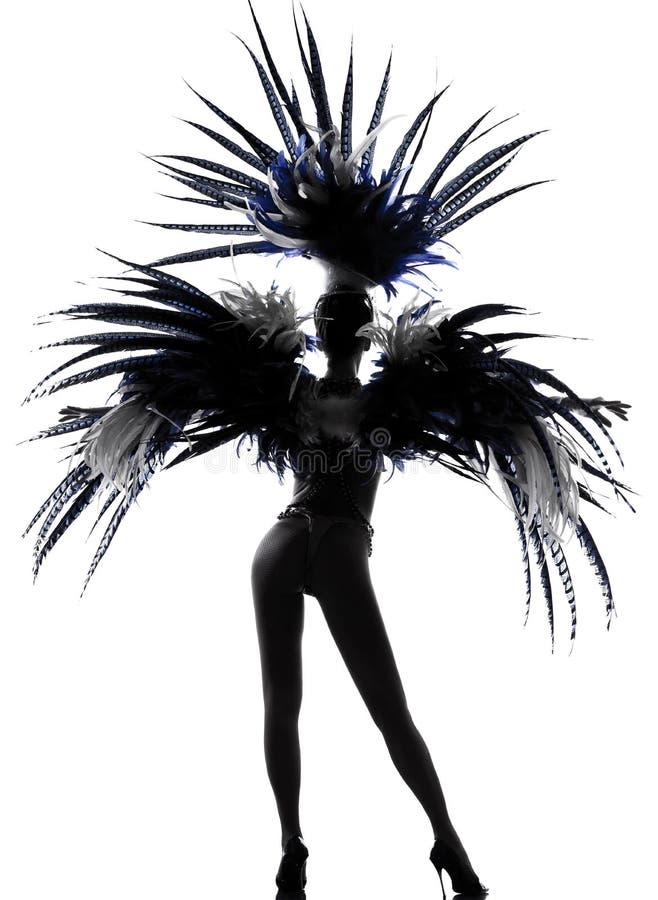 Danse de danseur de revue de femme de fille de scène image libre de droits