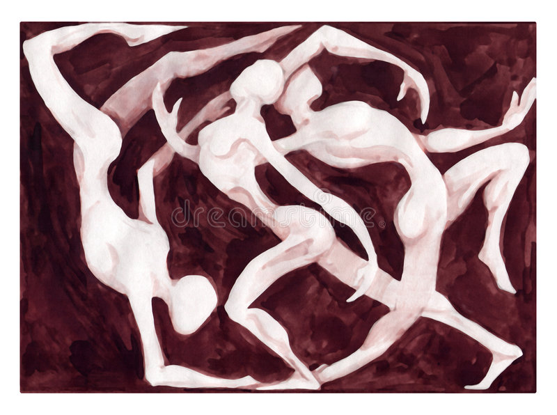 Danse de danseurs illustration de vecteur