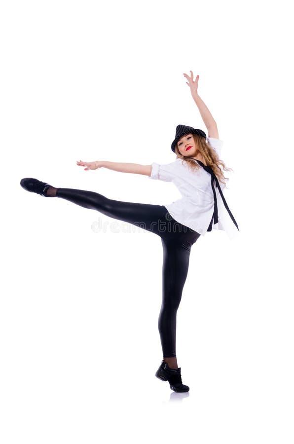 Danse de danseuse de femme photo stock