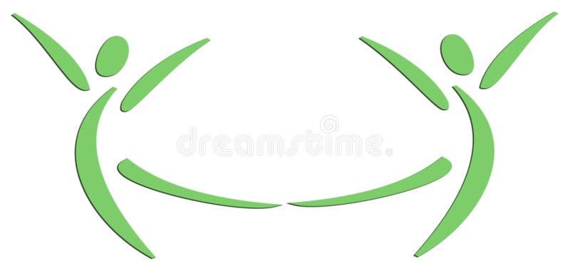 Danse de deux personnes illustration de vecteur