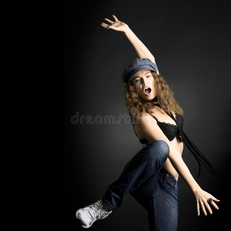 Danse de femme image stock