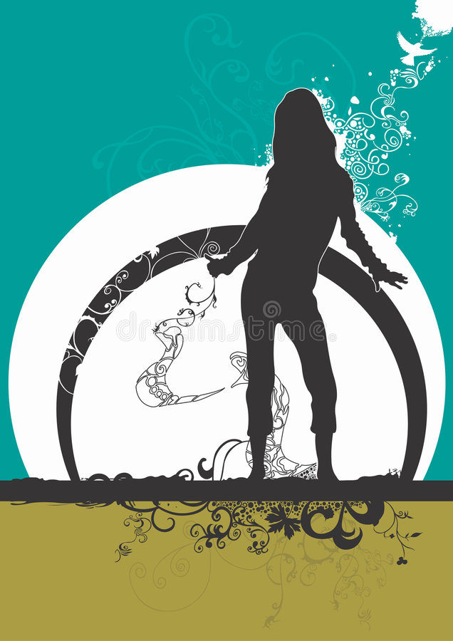 Download Danse de femme illustration de vecteur. Illustration du abstrait - 2143123
