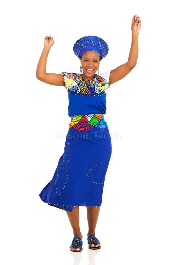 Danse de femme de zoulou photos stock