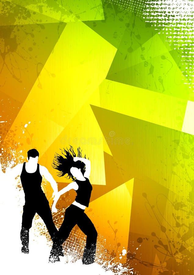 Danse de forme physique illustration de vecteur