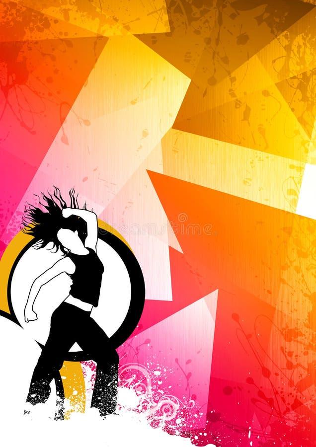 Danse de forme physique illustration stock