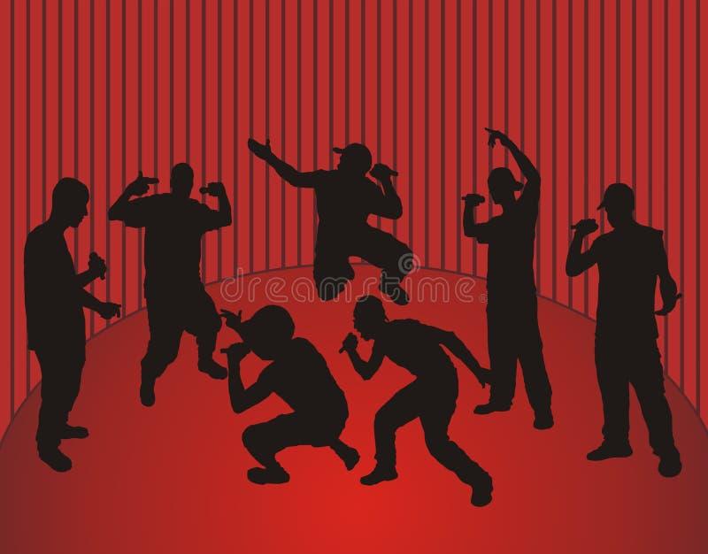 Danse de frappeurs illustration libre de droits