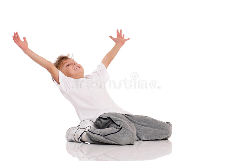 Danse de garçon photographie stock libre de droits