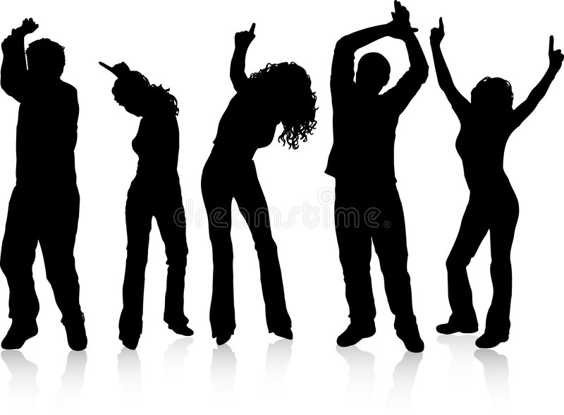 Download Danse de gens illustration de vecteur. Illustration du femme - 743792