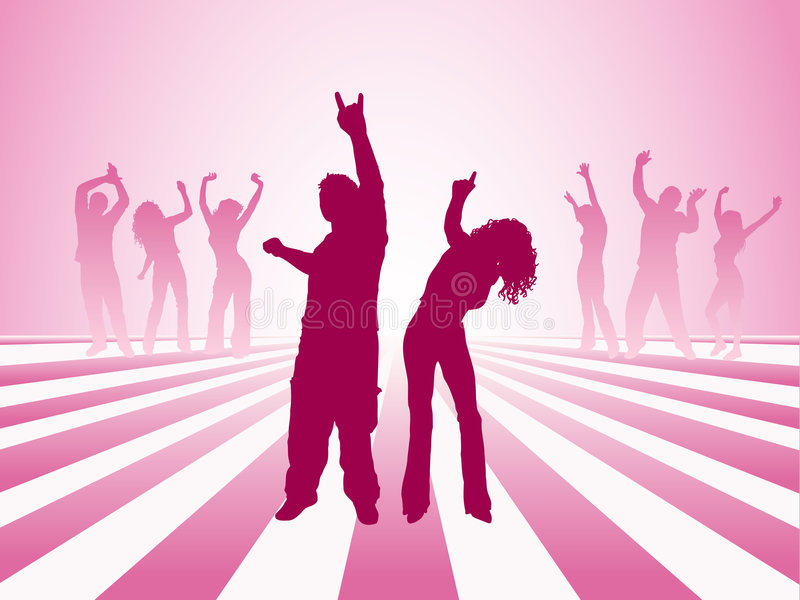 Danse de gens illustration libre de droits