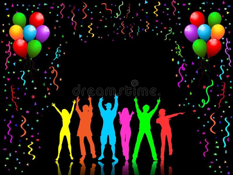 Danse de gens de réception illustration libre de droits