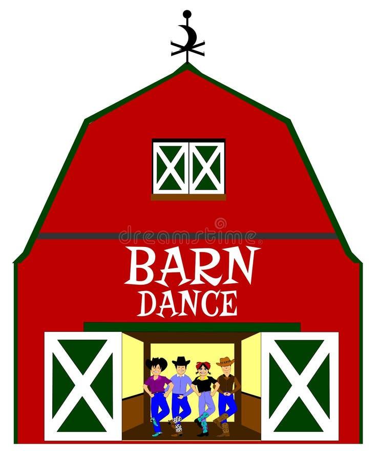 Danse de grange illustration stock