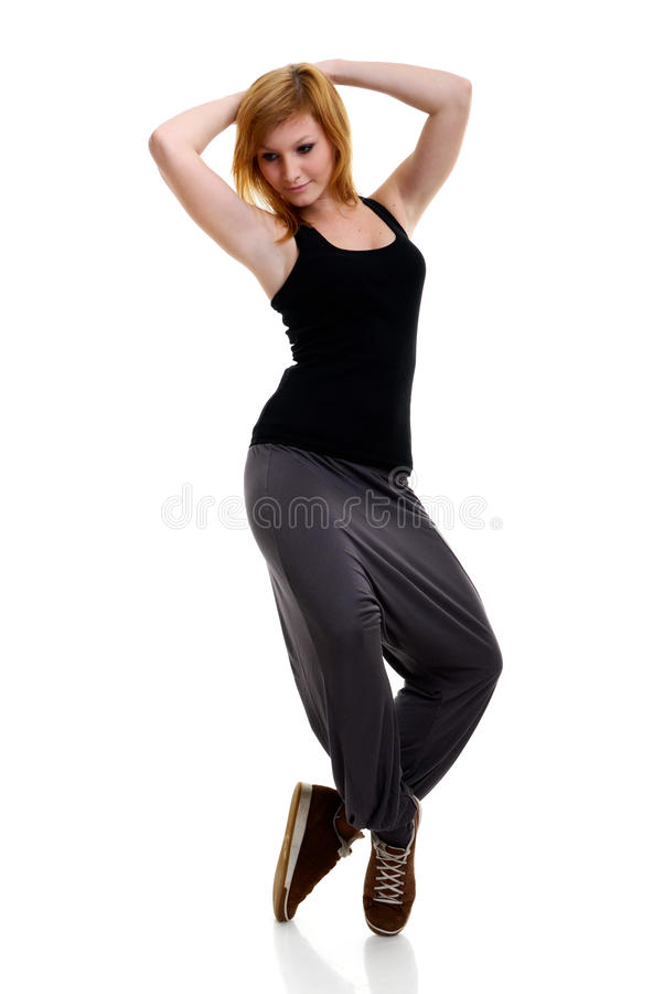 Danse de jeune femme photographie stock libre de droits