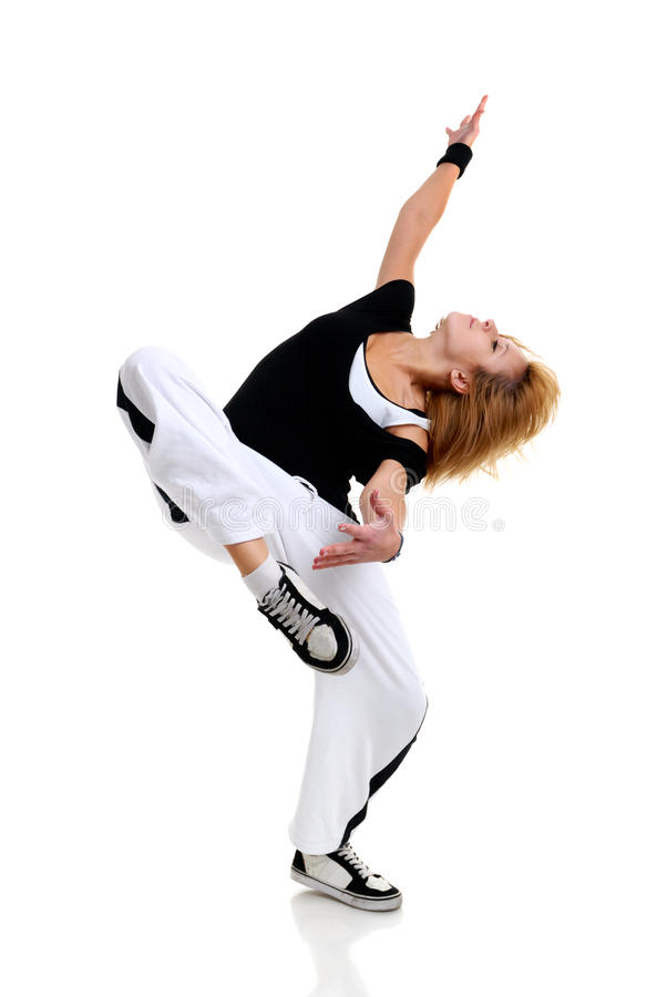 Danse de jeune femme photos stock