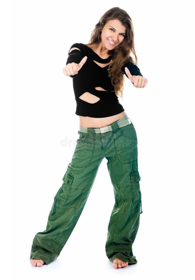Danse de jeune femme photo libre de droits