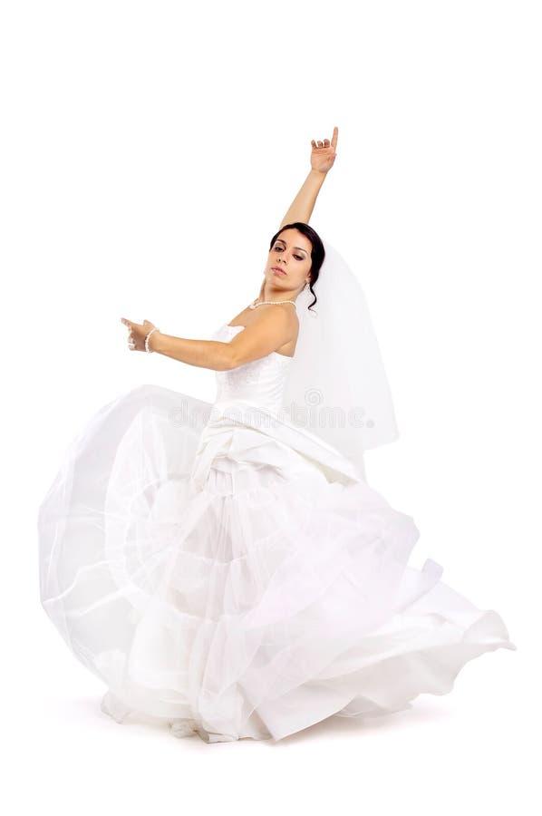 Danse de jeune mariée photos libres de droits
