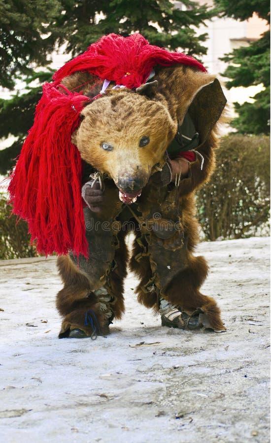 «Danse de l'ours» de la Roumanie images libres de droits