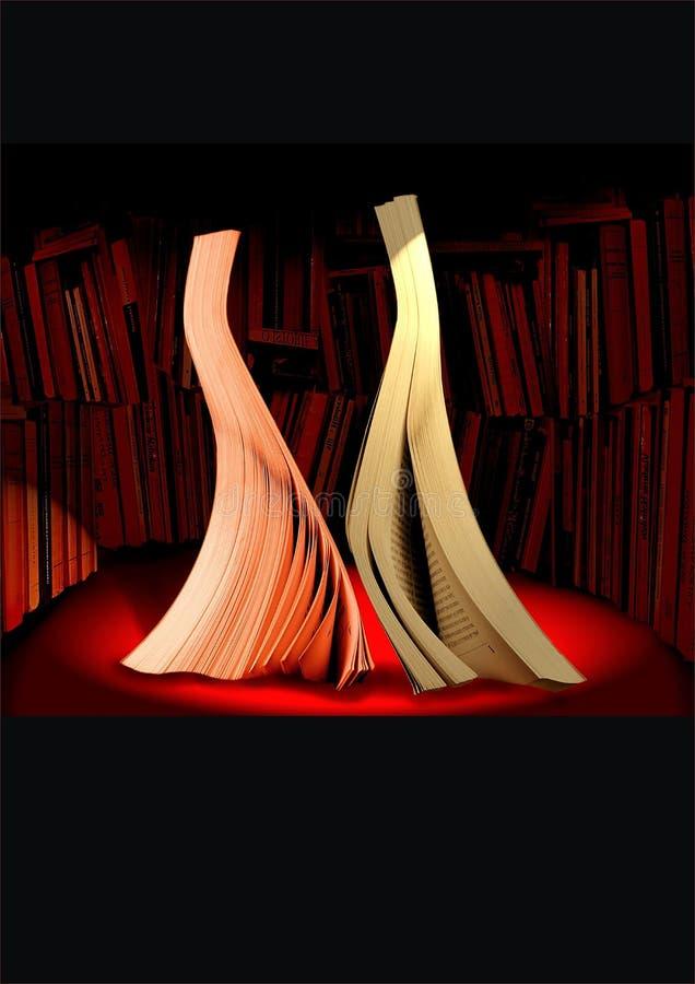 Danse de livres image stock