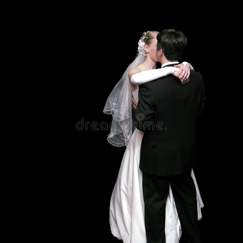Danse de mariée et de marié images stock