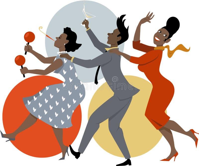 Danse de partie illustration stock