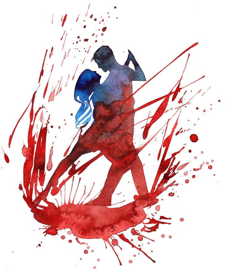 Danse de passion illustration libre de droits