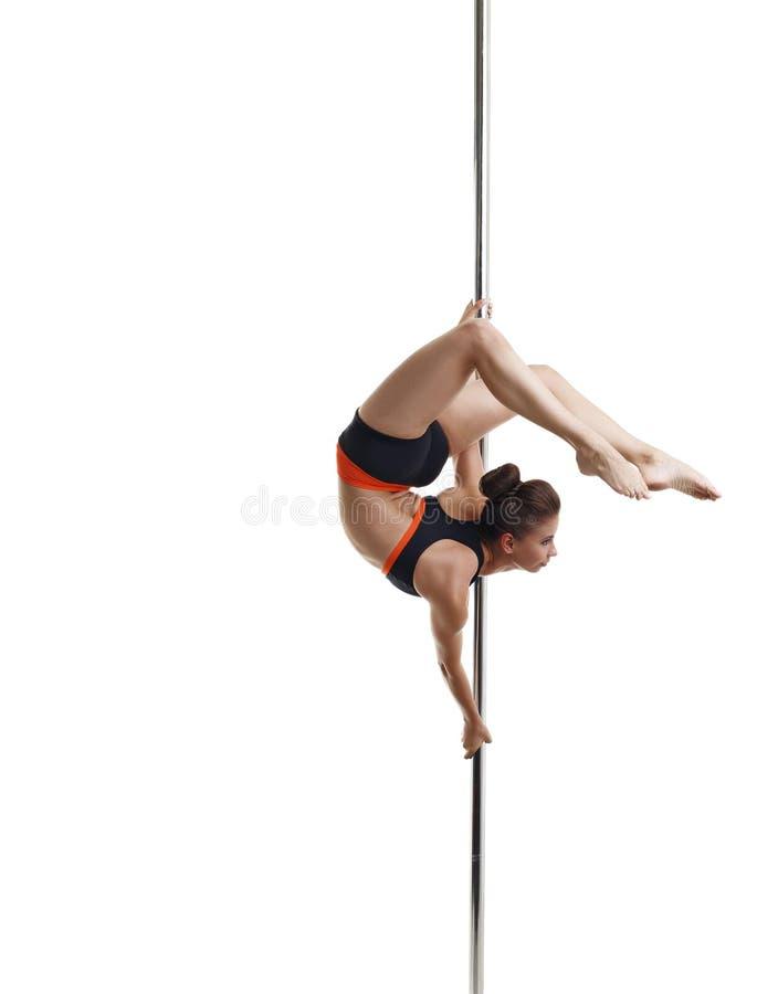 Danse de Polonais Jolie fille posant courber avec élégance photo stock