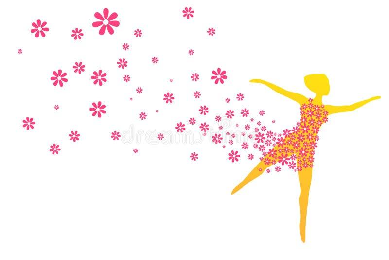 Danse de printemps illustration stock