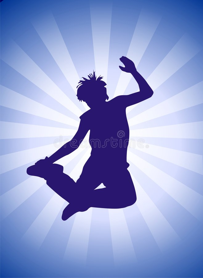 Danse de rupture illustration de vecteur