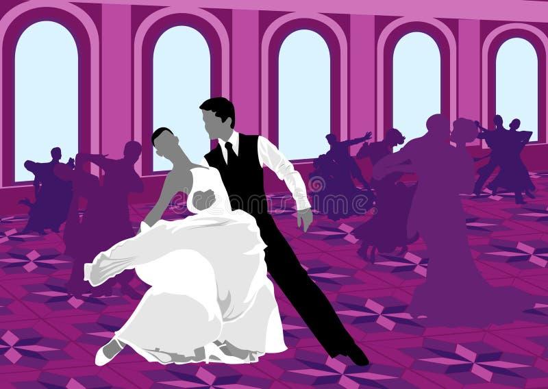 Danse de salon. illustration libre de droits