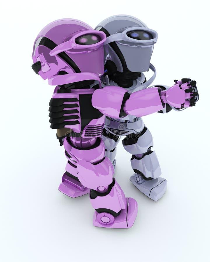 Danse de salon de robots illustration stock