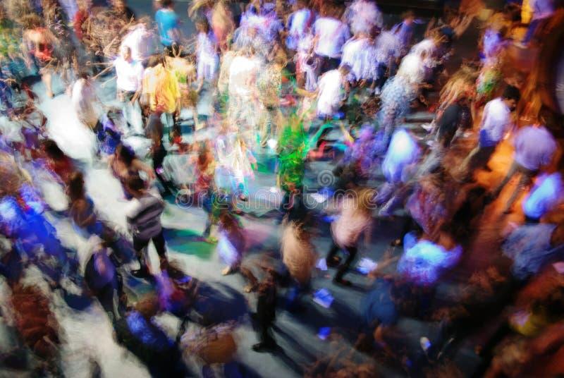 Danse de tache floue image stock