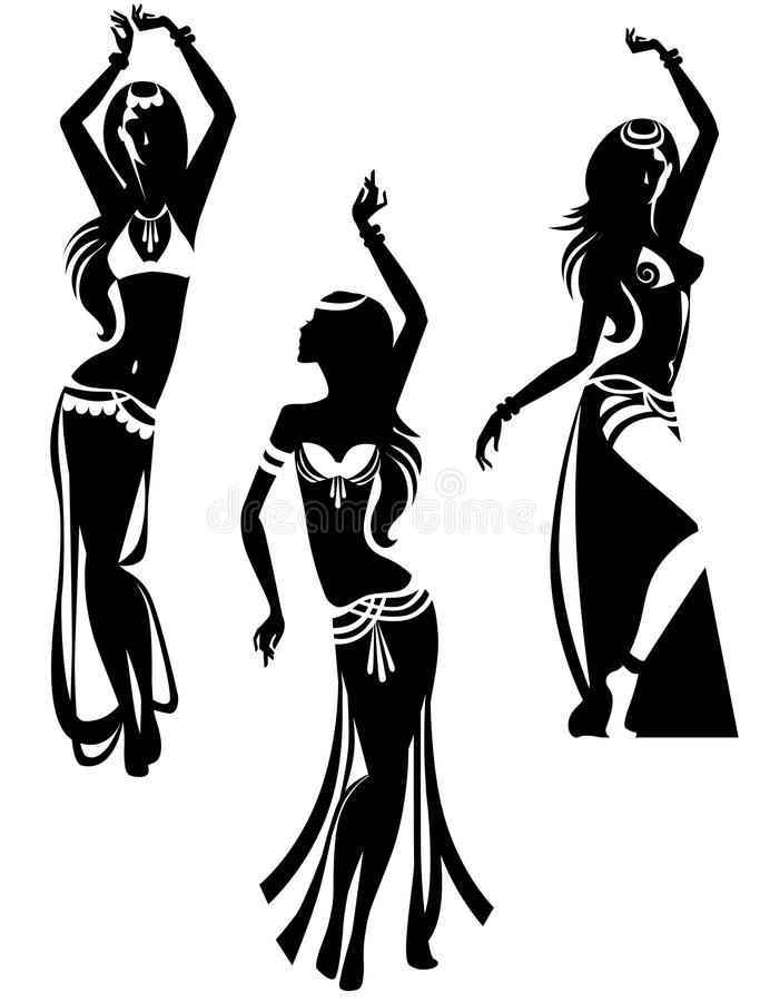 Danse de ventre illustration stock