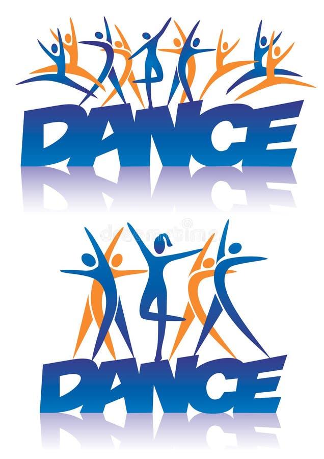 Danse de Word avec des icônes de danse illustration libre de droits