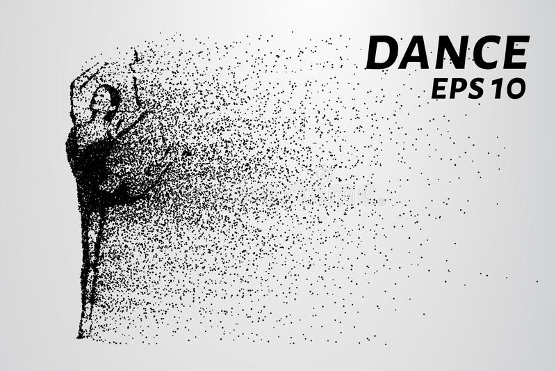 Danse des particules Les mouvements acrobatiques des petits cercles Illustration de vecteur illustration stock