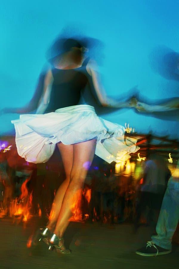Danse en parc de Gorki photos stock