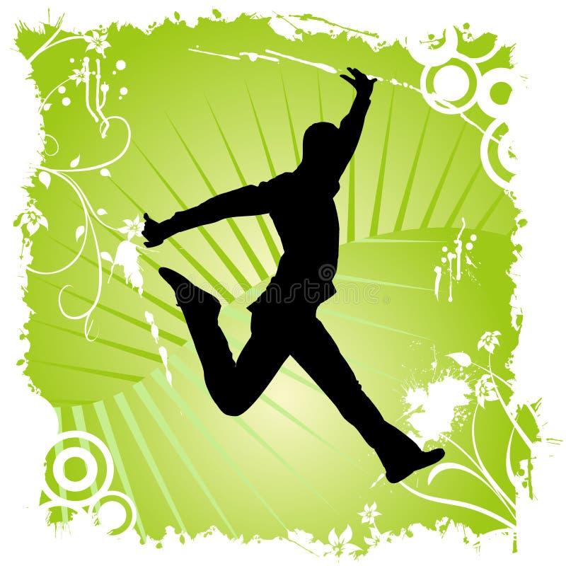 Danse heureuse d'homme illustration stock