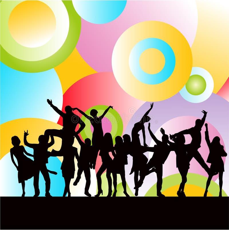 Danse heureuse de gens illustration stock