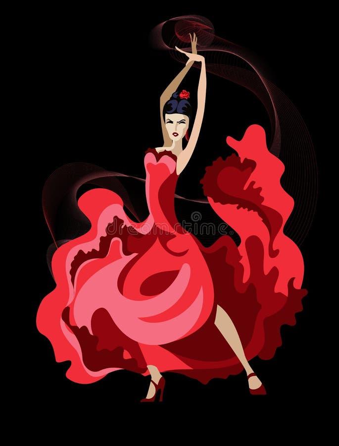 Danse latine illustration libre de droits