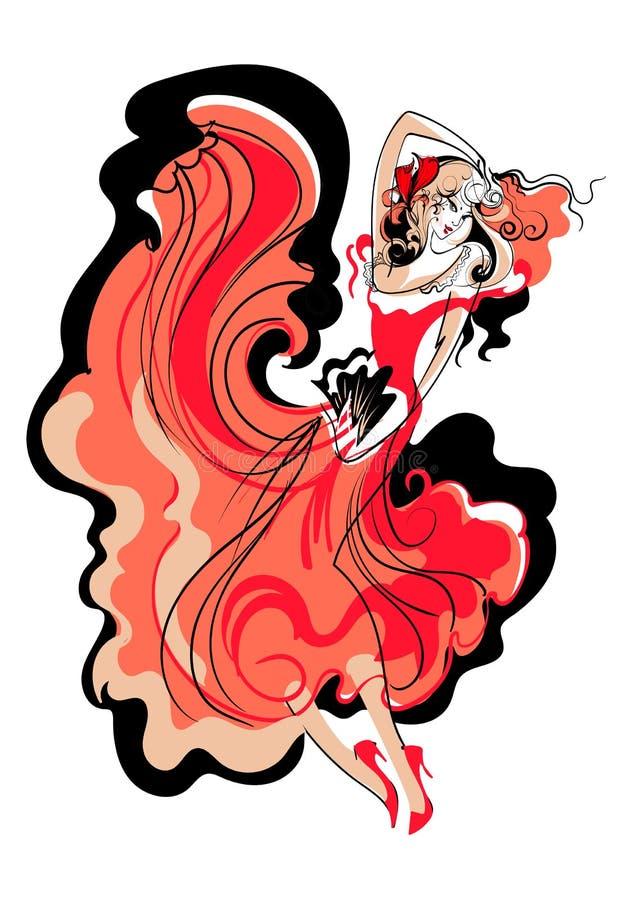 Danse latine illustration de vecteur