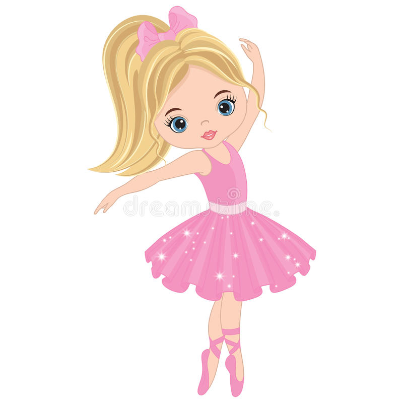 Danse mignonne de ballerine de vecteur petite illustration libre de droits