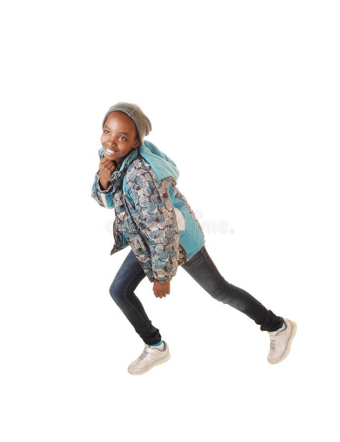 Danse noire de fille. photos stock