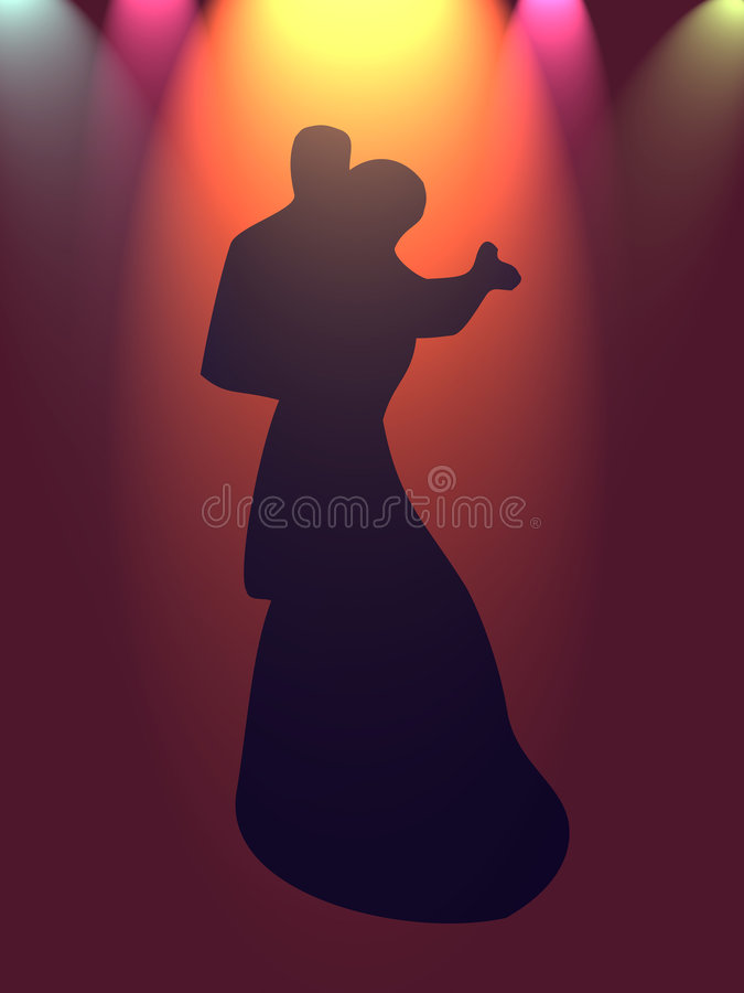 Danse pendant l'année neuve illustration stock