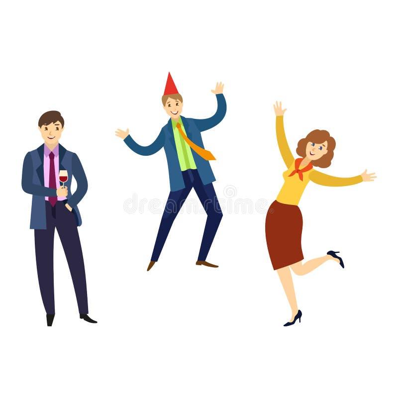 Danse plate de personnes d'employés de bureau de vecteur illustration stock