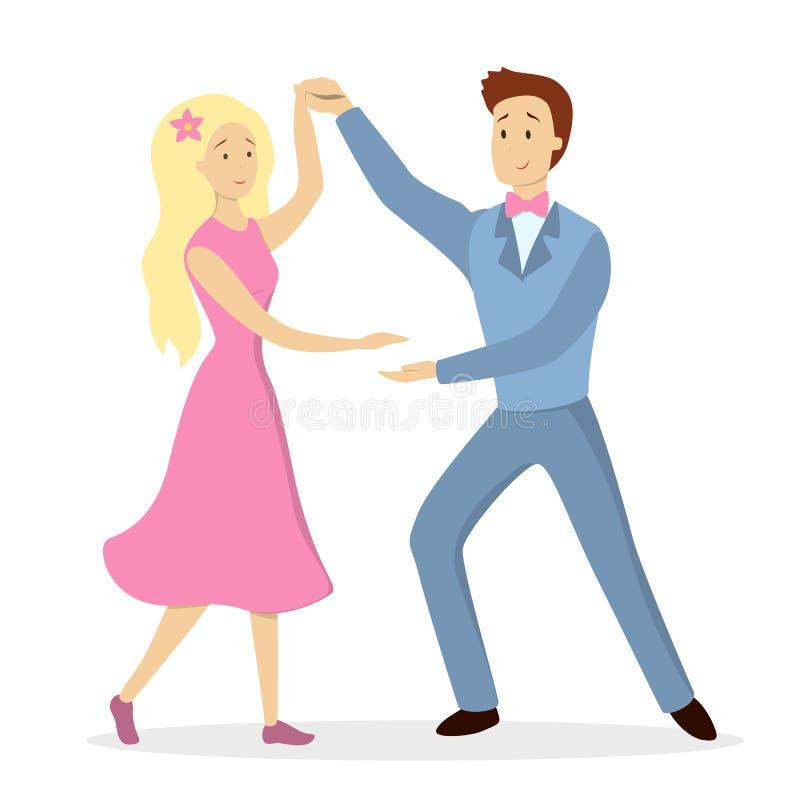 Danse romantique de couples illustration de vecteur