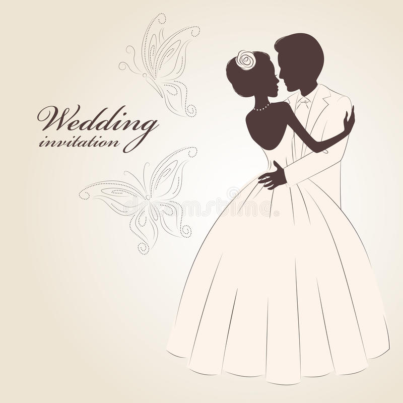 Invitation de mariage. illustration stock