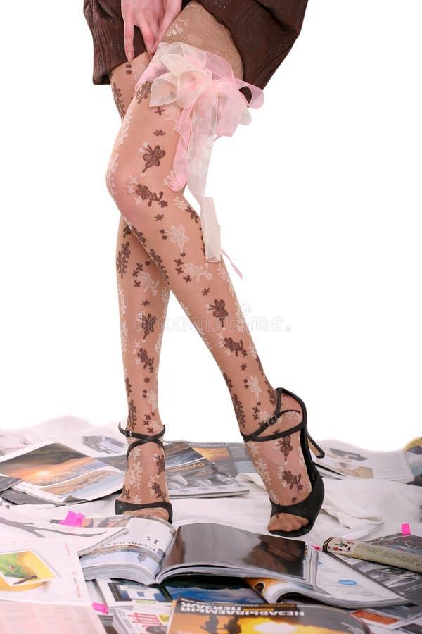 Danse sur des revues image libre de droits