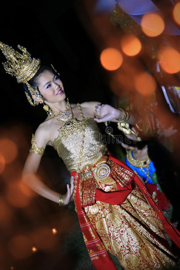 Danse thaïe photographie stock