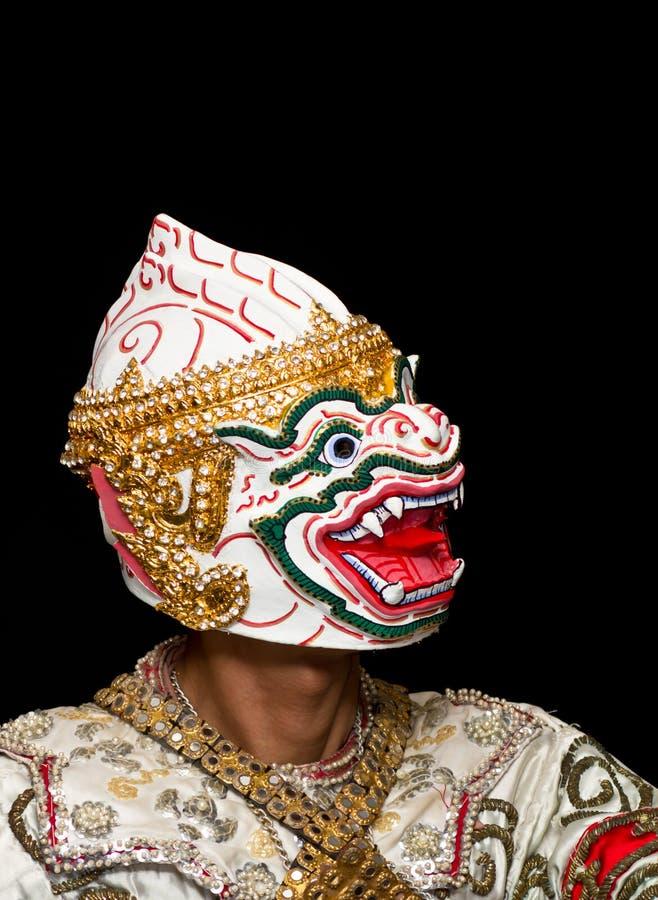 Danse thaïe de masque images libres de droits